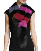 Popsicle Fur Scarf, Multi