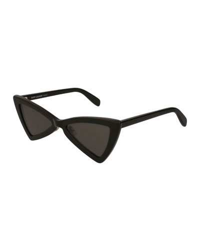 SL 207 Triangle Acetate Sunglasses, Black