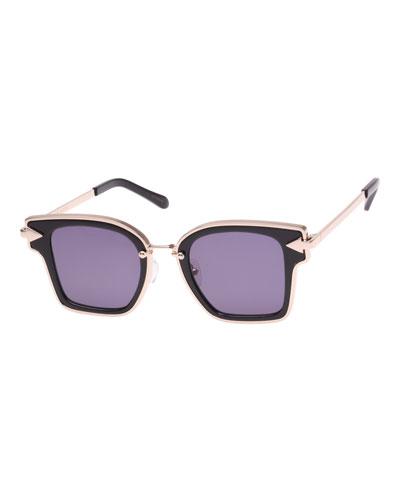 Rebellion Two-Tone Square Sunglasses