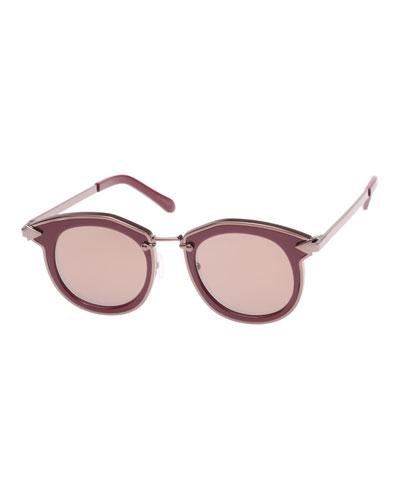 4f18c82b3db Red Round Sunglasses