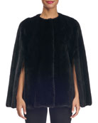 Collarless Mink Fur Cape