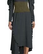 Knit Lace-Up Tie Corset Belt