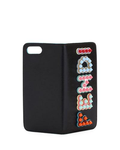 Fendi Polished Logo - Studded Phone Case for iPhone® 7
