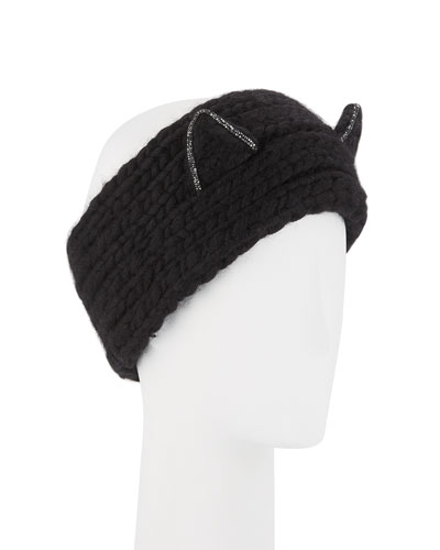 Kat Wool Headband with Animal Ears