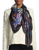 Jane Carr The Decoupage Silk Twill Square Scarf