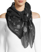 Black Magic Silk Scarf