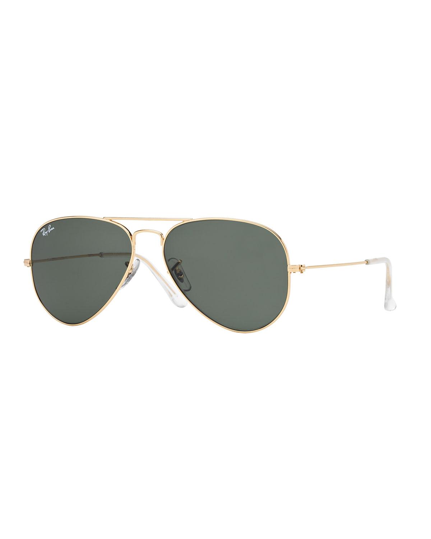 Monochromatic Metal Aviator Sunglasses