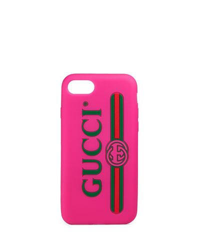 Gucci Print Rubber iPhone 7 Case