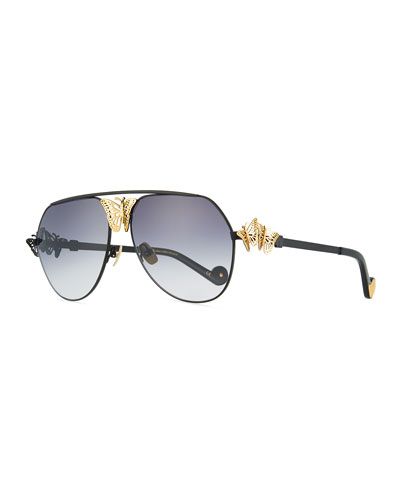 Miss Rosell 110th Anniversary Aviator Sunglasses