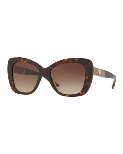 Gradient Oversize Cat-Eye Sunglasses