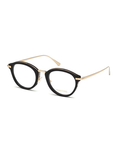 4c5f7be73e Quick Look. TOM FORD · Oval Acetate   Metal Optical Frames ...