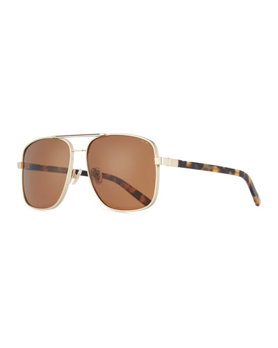 PARED EYEWEAR Uptown & Downtown Square Sunglasses in Brown Pattern
