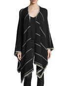 Kamala Striped Oversized Draped Poncho