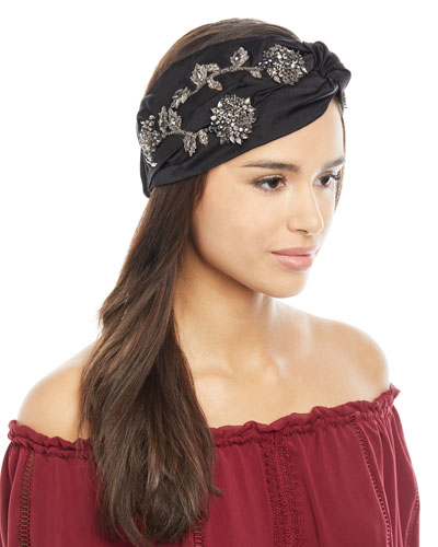 Silk Satin Sirvat Turban Head Wrap