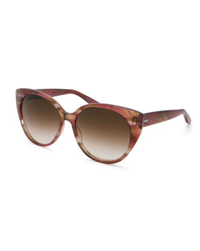 Kuuipo Butterfly Gradient Sunglasses, Topaz