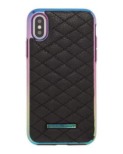 Quilted Love Oil Slick Phone Case for iPhone® X