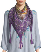 Aratta Floral-Print Silk Georgette Scarf