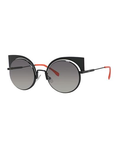 Runway Mirrored Cutout Sunglasses