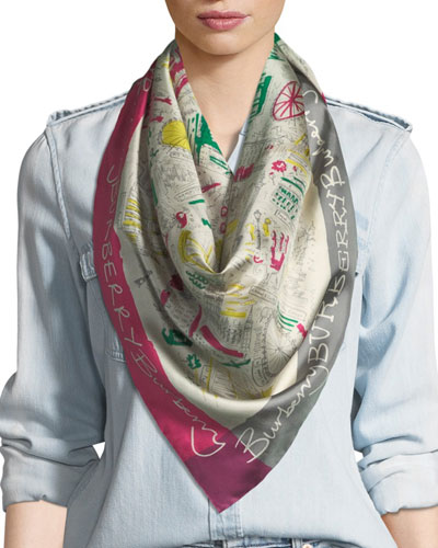 Silk London Icon Scarf