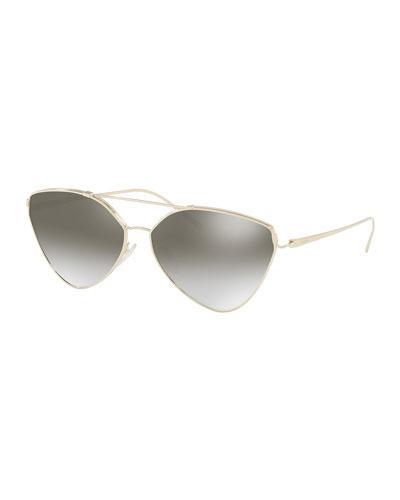 Mirrored Aviator Sunglasses, Gold