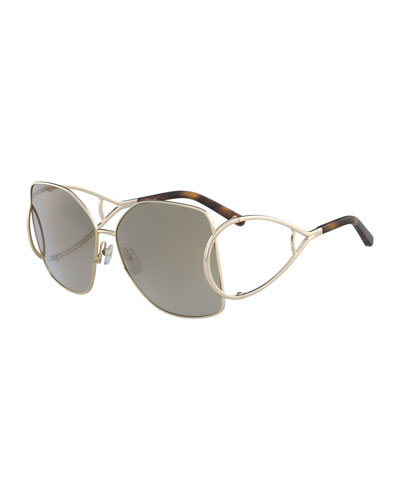 Jackson Square Oversized Mirrored Sunglasses