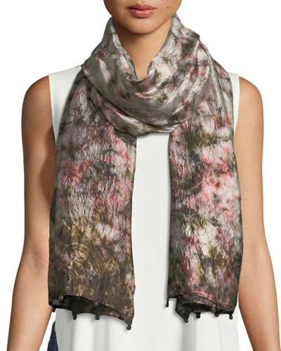 Hand-Loomed Dyed Silk Scarf
