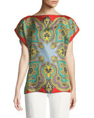 Flutter-Sleeve Silk Poncho
