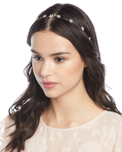 Crystal Flower Circlet Headband