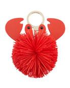 crab pouf keychain