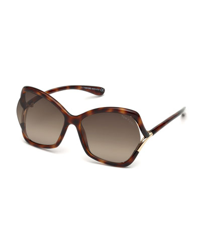Astrid Gradient Butterfly Sunglasses