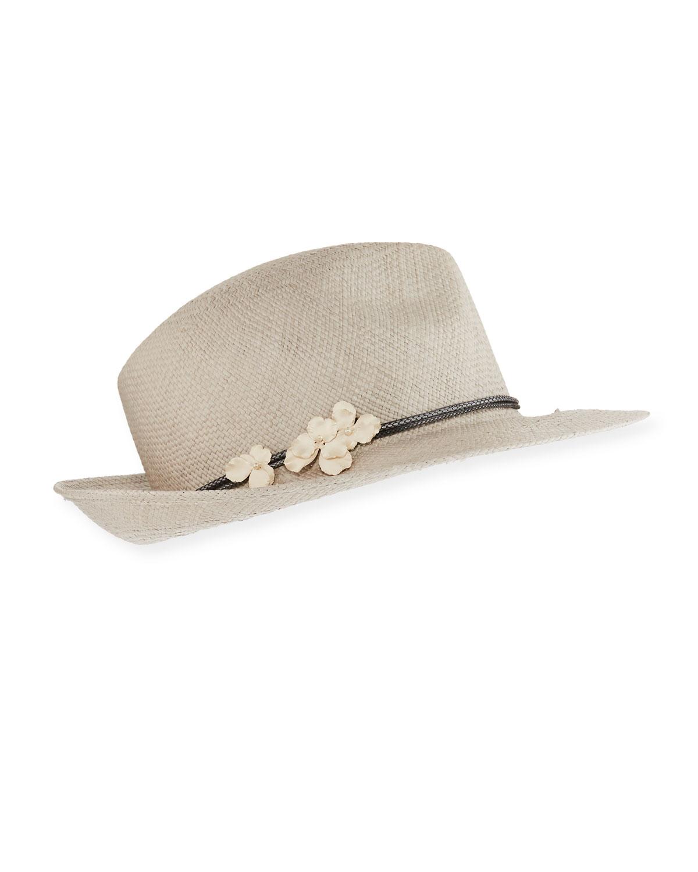 Flavia Straw Panama Hat