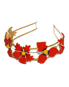 Wild Poppies Hand-Painted Headband