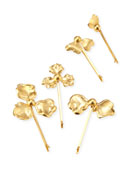 Astrid 14K Plated-Gold Petal Bobby Pins, Set of 5