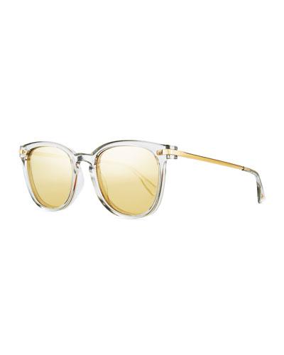 Plationist Mirrored Rectangle Sunglasses
