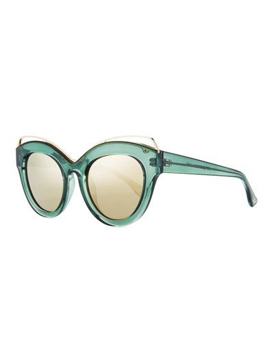 Halogazer Translucent Cat-Eye Sunglasses