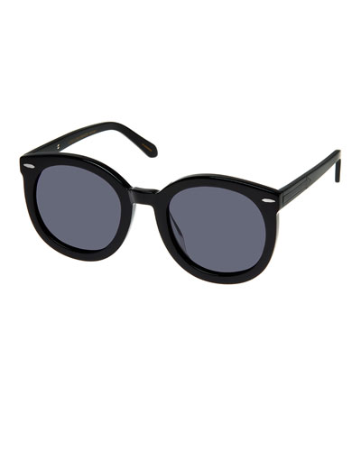 Alternative Fit Super Duper Round Sunglasses, Black Pattern