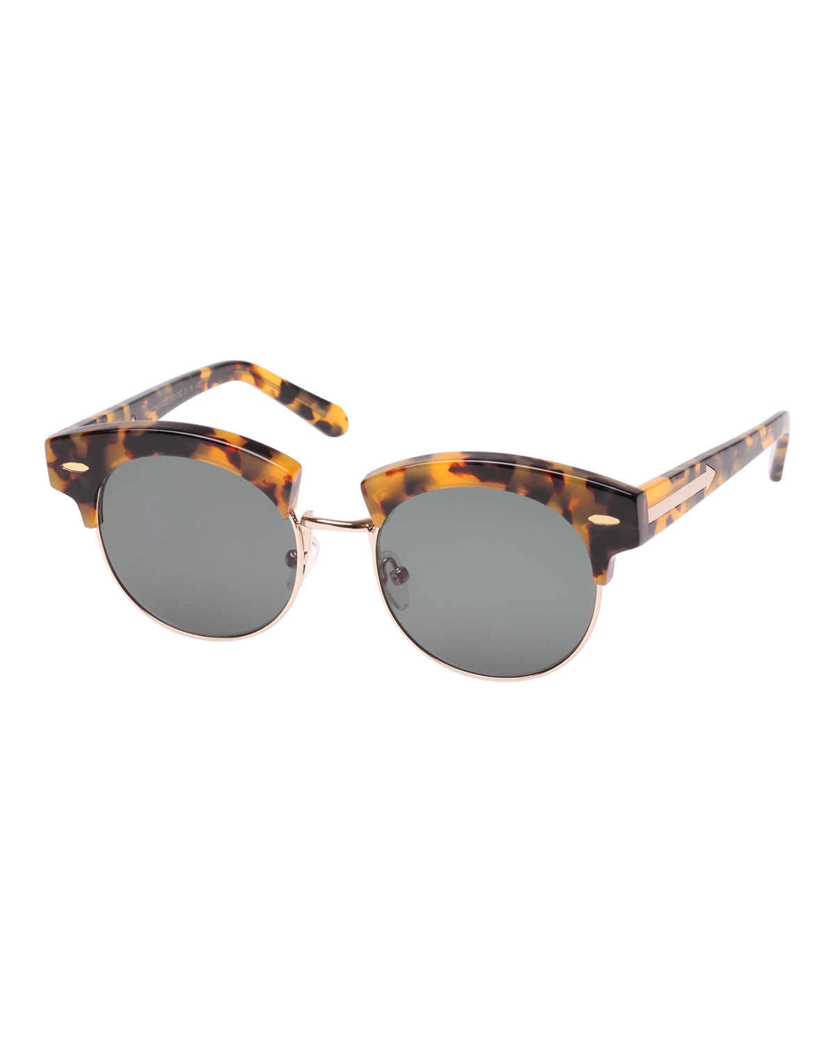 The Constable 51Mm Sunglasses - Crazy Tortoise in Crazy Tort/Green Mono