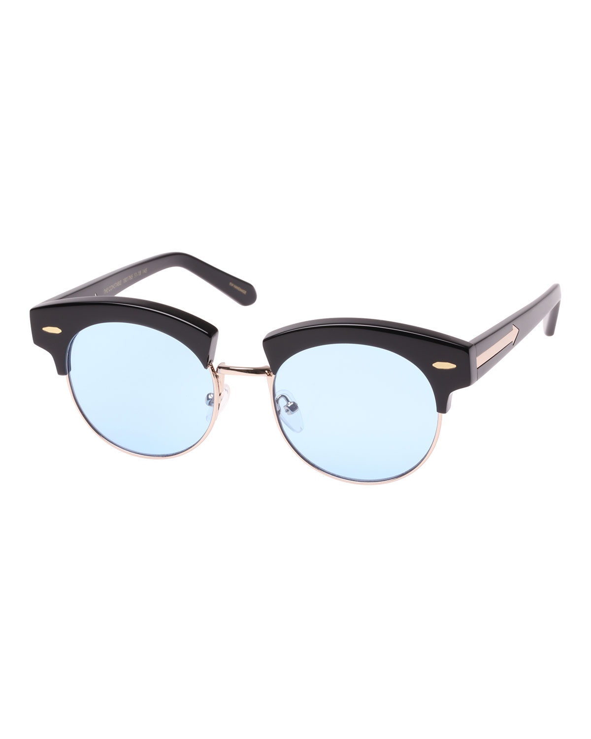3a14061ecc36 The Constable Round Semi-Rimless Sunglasses