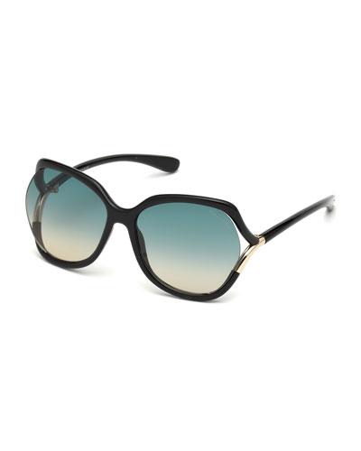 Open-Temple Gradient Sunglasses