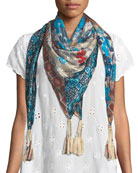 Augustina Striped Pattern Fringe Scarf