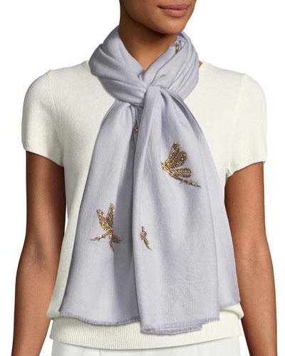 Jeweled Dragonfly Scarf