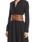 Adjustable Leather Corset Belt