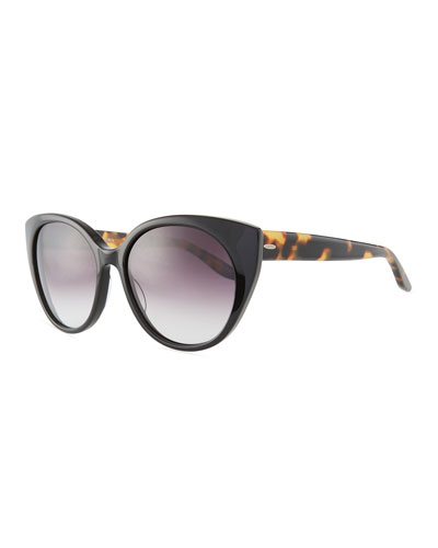 Kuuipo Butterfly Gradient Sunglasses, Black Pattern