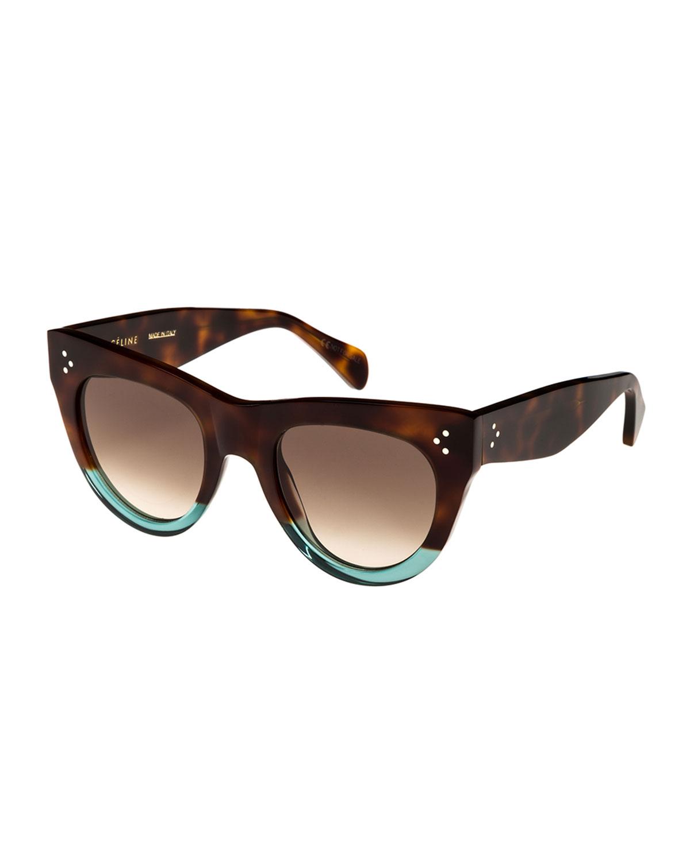 51Mm Cat Eye Sunglasses - Havana/ Aqua/ Brown