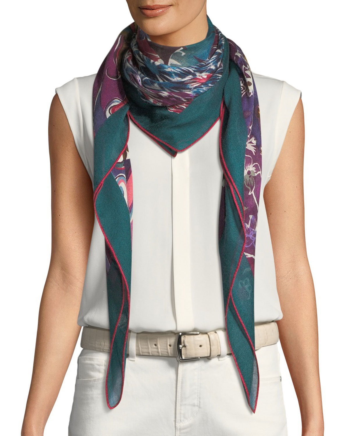 Royal Garden Maxi Carré Scarf