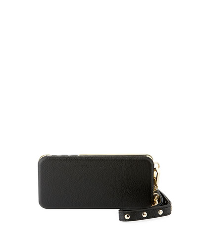 Mirrored Leather Folio Phone Case for iPhone 7/8 Plus