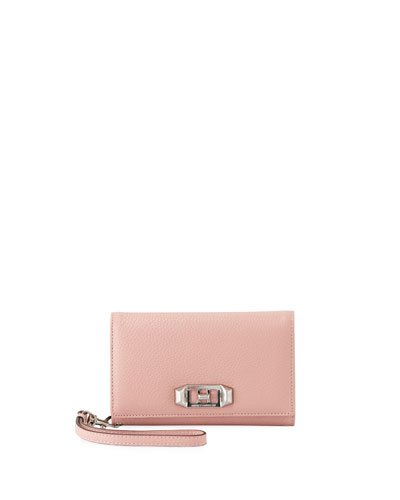 Lovelock Leather Wristlet Phone Bag - iPhone X