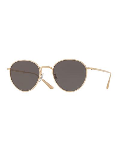 Brownstone Round Titanium Sunglasses