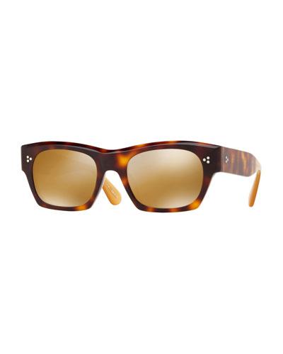 Isba Mirrored Plastic Sunglasses - Washed Rose