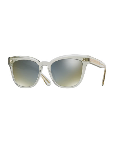 Marianela Rounded Plastic Mirrored Sunglasses